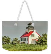 Maurice River, New Jersey, East Pointe  Lighthouse Weekender Tote Bag