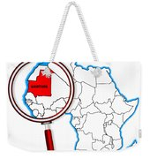 Mauritania Under A Magnifying Glass Weekender Tote Bag