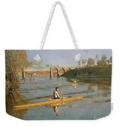 Max Schmitt In A Single Scull Weekender Tote Bag by Thomas Cowperthwait Eakins