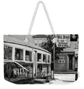 Max's Diner New Jersey Black And White Weekender Tote Bag