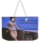 May September Romance Quote Weekender Tote Bag