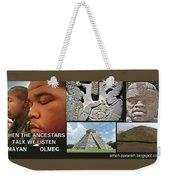 Mayan Olmec Weekender Tote Bag