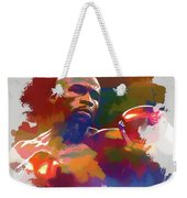 Mayweather Watercolor Weekender Tote Bag