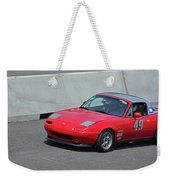 Mazda Miata On Pit Lane Weekender Tote Bag