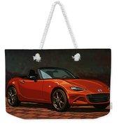 Mazda Mx-5 Miata 2015 Painting Weekender Tote Bag