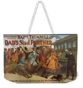Mazie Trumbull And Her Fun Crowd Dads Side Partner Vintage Entertainment Poster 1908 Weekender Tote Bag