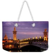 Bridge Of Alexandre IIi At Night Weekender Tote Bag