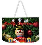 Custom Soldier Christmas Card Weekender Tote Bag