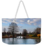 Mcbride Arboretum Winter Morning Weekender Tote Bag