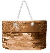 Mcconnells Mill Covered Bridge Sepia Weekender Tote Bag