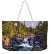 Mcdonald Creek Falls Weekender Tote Bag