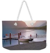 Mcdonald Lake At Dusk Weekender Tote Bag
