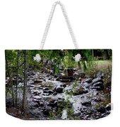 Mcdonald Lake Stream Weekender Tote Bag