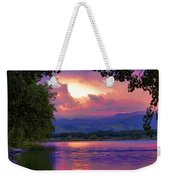 Mcintosh Lake Sunset Weekender Tote Bag