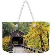 Mckee Bridge In Fall Weekender Tote Bag