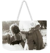 Me And Dad On The Mountain Weekender Tote Bag