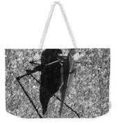 Me And My Shadow Black And White Weekender Tote Bag