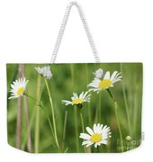 Meadow Detail White Wild Flowers Weekender Tote Bag