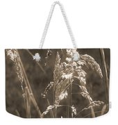 Meadow Grass In Sepia Weekender Tote Bag