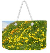 Meadow Hillside Poppy Flowers 8 Poppies Artwork Gifts Weekender Tote Bag