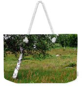 Meadow With Birch Trees Weekender Tote Bag