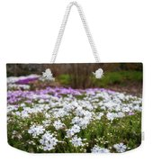 Meadow With Flowers At Botanic Garden In The Blue Mountains Weekender Tote Bag