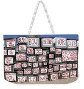 Media Instructions Weekender Tote Bag