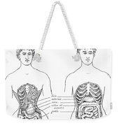 Medical Crimes Of The Corset, 1908 Weekender Tote Bag