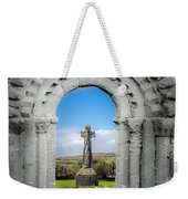 Medieval Arch And High Cross, County Clare, Ireland Weekender Tote Bag