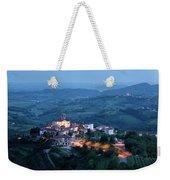 Medieval Hilltop Village Of Smartno Brda Slovenia At Dusk With S Weekender Tote Bag