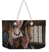 Medieval Tudor Woman At Prayer Weekender Tote Bag