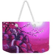 Meditating While Cherry Blossoms Fall Weekender Tote Bag