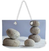Meditation Stones On White Sand Weekender Tote Bag