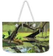 Meditative Swamp Weekender Tote Bag