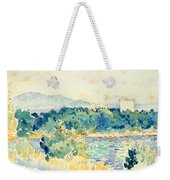 Mediterranean Landscape With A White House Weekender Tote Bag