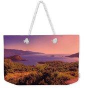 Mediterranean Sunset Glow Weekender Tote Bag
