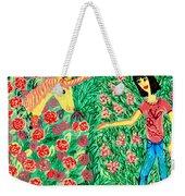 Meeting In The Rose Garden Weekender Tote Bag by Sushila Burgess