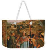 Meeting Of Duke Ludovico II Gonzaga With Cardinal Francesco Gonz Fragment Weekender Tote Bag