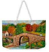 Meeting On The Old Bridge Weekender Tote Bag