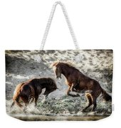 Meeting On The River  Weekender Tote Bag