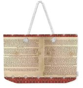 Meguilat Esther-esther Scroll The Whole Text Weekender Tote Bag