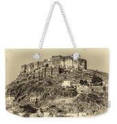 Mehrangarh Fort Sepia Weekender Tote Bag