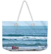 Melbourne Beach Florida On The Phone Weekender Tote Bag