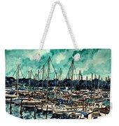Melbourne Florida Sailing Marina Weekender Tote Bag