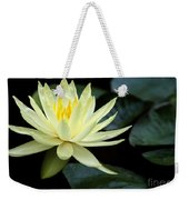 Mellow Yellow Water Lily Weekender Tote Bag