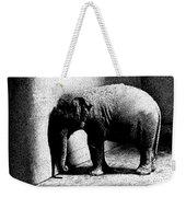 Melancholy Elephant Weekender Tote Bag