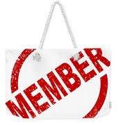 Member Ink Stanp Weekender Tote Bag