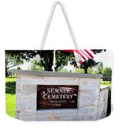 Memorial Day 2017 - Sumner W A Cemetery Weekender Tote Bag