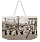 Memorial Day Parade Ashley Pa With Train Station And The Huber Colliery In Background 1955 Weekender Tote Bag