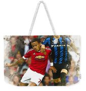 Memphis Depay Of Manchester United In Action Weekender Tote Bag